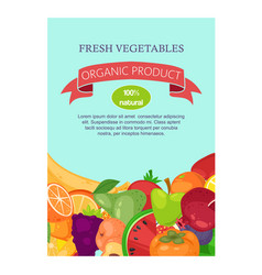 Vegetables and fruit set banners vector
