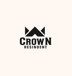 Vintage crown logo royal king queen abstract logo vector
