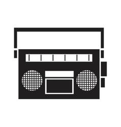 Vintage radio tape receiver signal vector