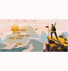 Web banner on theme sport tourism vector