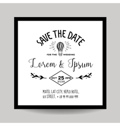 wedding invitation card - save date vector image