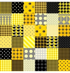 Yellow patchwork pattern vector