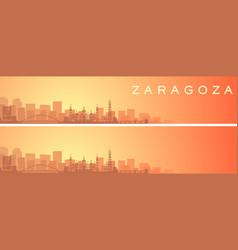 Zaragoza beautiful skyline scenery banner vector