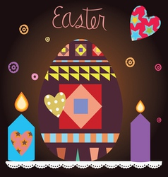 easter celebration post card vector image