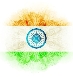 Indian flag in watercolor background vector