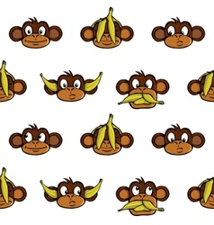 monkey heads background vector image