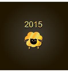 new year lamb golden design Symbol of 2015 Sheep vector image vector image