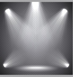 scene illumination bright light transparent vector image vector image