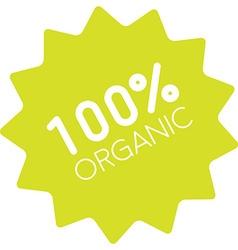 100 organic badge simple vector image