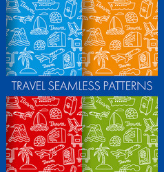 color travel patterns background vector image vector image