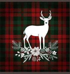 merry christmas greeting card invitation deer vector image