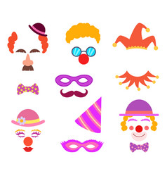 scrapbook elements circus or party costumes and vector image