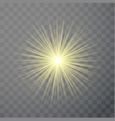 bright light flare flash effect template isolated vector image vector image