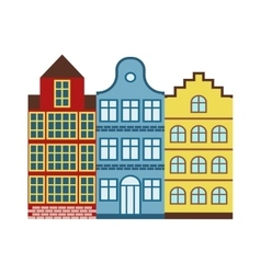 European houses vector image