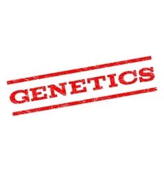 Genetics watermark stamp vector