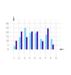 graph element isolated infographics vector image vector image