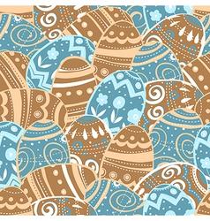 Seamless easter eggs pattern vector