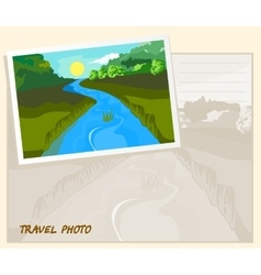 travel photo template vector image