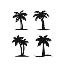 tree palms set vector image