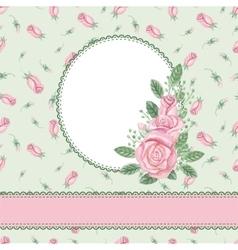 Vintage floral cardinvitationWatercolor rose vector image