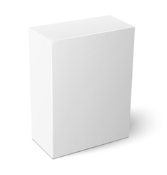 White vertical paper box template vector image vector image