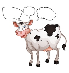 A smiling cow vector image vector image