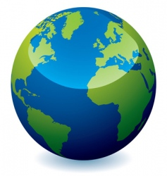 earth globe vector image vector image