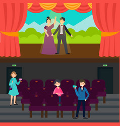 people in theatre horizontal banners vector image vector image