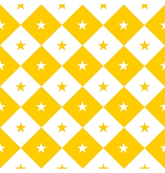 Star Yellow White Chess Board Diamond vector image vector image
