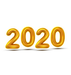 2020 number new year celebration banner vector image