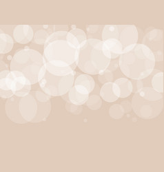 Abstract brown circular bokeh background vector