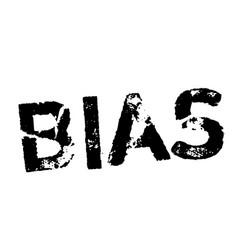 Bias stamp on white vector