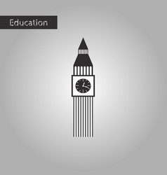Black and white style icon big ben vector