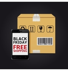 Black friday free shipping vector