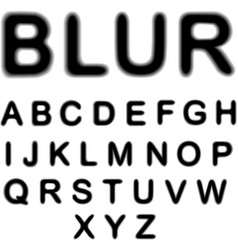 Blur alphabet vector