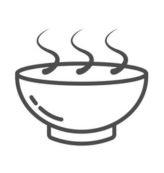 bowl hot plate with food black icon on white vector image