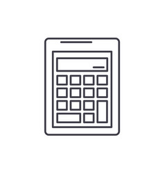 business calculation line icon concept busines vector image