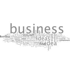 Business ideas entrepreneur vector