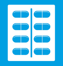Capsules icon white vector