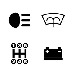 car parts simple related icons vector image