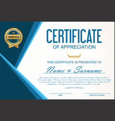 Certificate or diploma template 10 vector