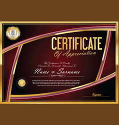 Certificate retro design template 09 vector