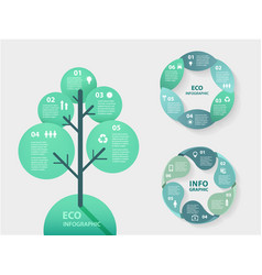 Circle nature infographic tree template vector