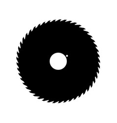 Circular saw blade black color icon vector