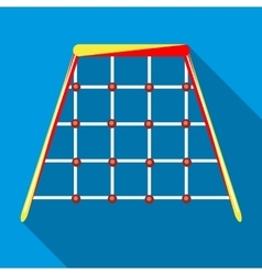 Climbing net in playground icon flat style vector image