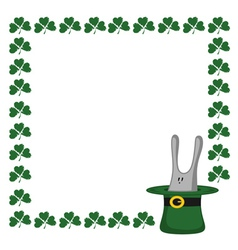 clover and rabbit vector image