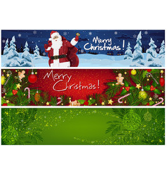 collection three christmas banners vector image