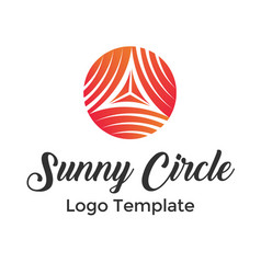 colorful circle lines symbol logo template vector image