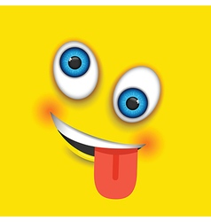 crazy square emoji vector image