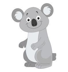 Cute grey koala vector